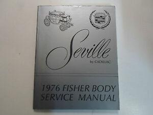 1976 cadillac seville fisher body service manual factory oem book 76 rh ebay com 1980 Cadillac 1976 cadillac service manual free download