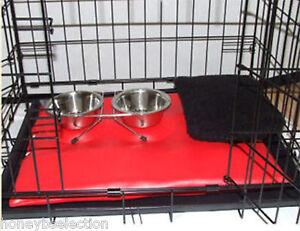 Dog-Pet-Cage-comprend-Tapis-de-petites-caisses-Bols-Chat-Petits-Animaux-Chiots