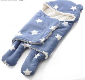Baby-Swaddle-Blanket-Muslin-Recieving-Fleece-Warm-Sleep-Sack-Boy-Girl-Sleeping