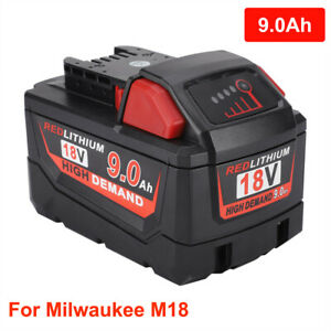 For-Milwaukee-M18-9000mAh-9-0Ah-18Volt-XC-Rechargeable-Li-ion-Extended-Battery