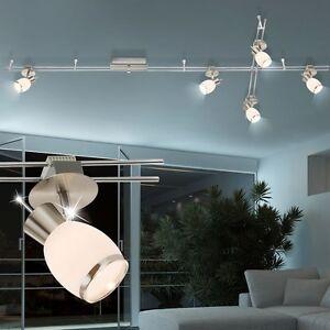 Design LED Chrome Verre Luminaire De Plafond Spot Rails Système Ess ...