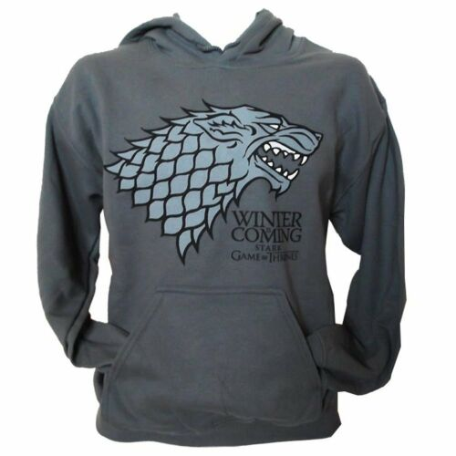 GAME OF THRONES Hoody Hoodie Grey CHARCOAL STARK Winter is coming All Sizes