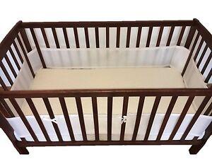 SafeBaby Breathable Mesh Crib Liner Bumper Baby Kid Adjustable Portable Wrap BPA