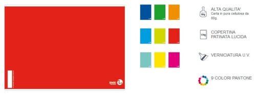 BeMore Quaderno Maxi A4 Color Basic 80Gr A Righe 1R 1pz