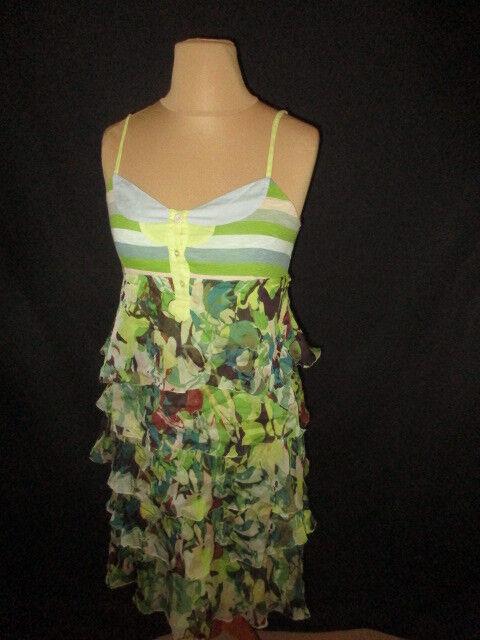 Dress silk One Step Green Size 38 à - 61%