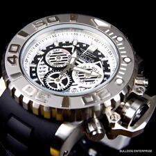 Invicta Sea Hunter III Black 70mm Full Sized Rubber Swiss Chronograph Watch New