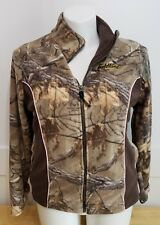 846b68e2dfb38 FIELD LINE Pro Series Camo Womens zip front hunting fishing jacket Size L