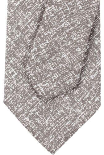 NWT EIDOS by ISAIA pure silk TIE dove-grey white luxury handmade Italy