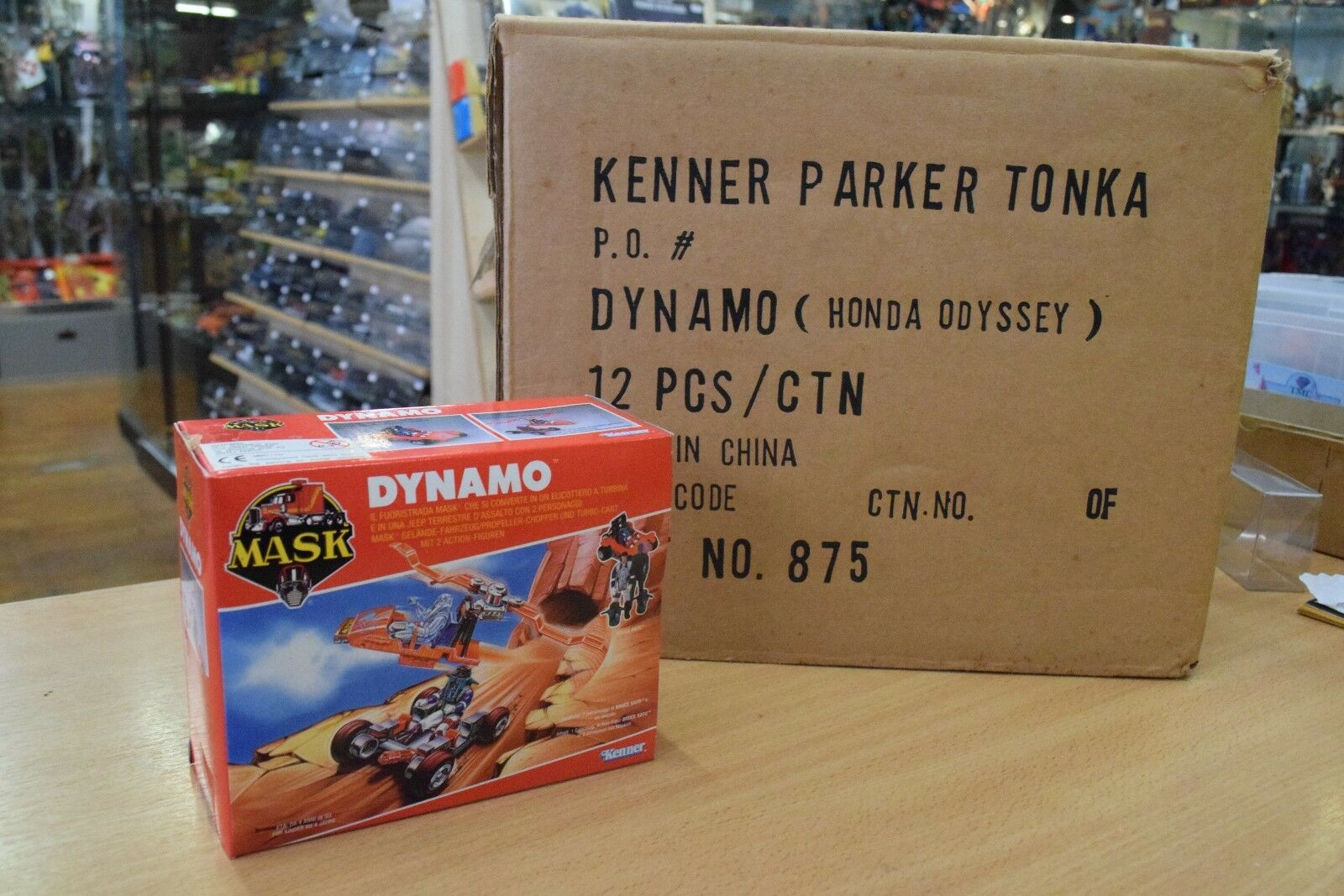 Kenner M.A.S.K. Mask Dynamo MISB sealed + original shipping case Honda Odyssey
