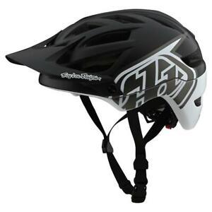 Troy Lee Designs A1 MIPS Classic Mountain Bike Helmet Black/White Sm