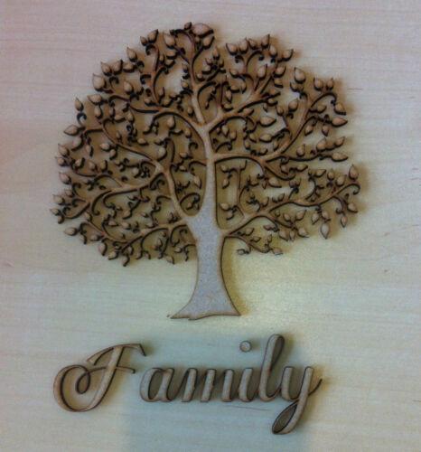 2 x 15cm Wooden Family Tree 20 x2cm hearts MDF blank crafts wedding