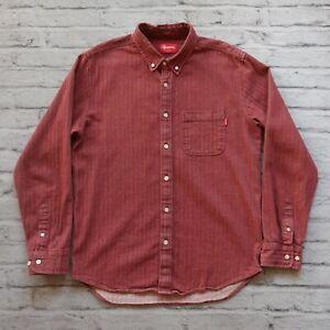 Vintage-Supreme-Herringbone-Shirt-M-L-Denim