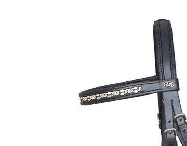 De Alta Calidad Brida  Precara  Lacey Lacey Lacey Full Negro Estribo Refrenar Cuero Wb K 6baf4a