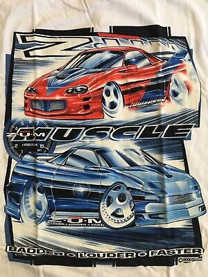 Mens New Large Zum Hot Rod Speed Car T Shirt Dykom USA Black Rare 1999 Vintage