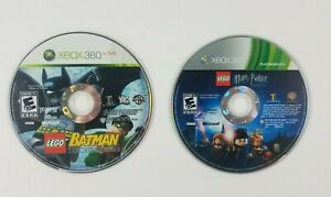 2-Xbox-360-Games-LEGO-Harry-Potter-Years-1-4-Lego-Batman-The-Video-Game