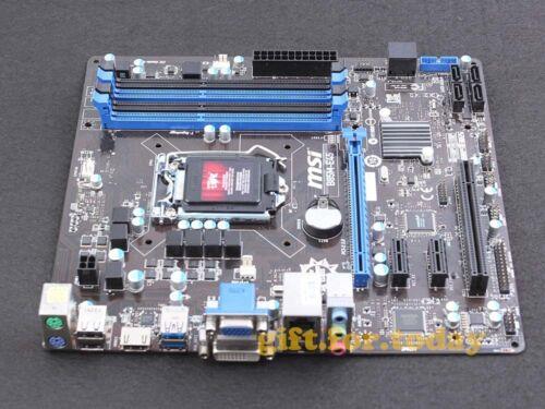 Original MSI B85M-E45 Intel B85 Motherboard LGA 1150 DDR3 SATA HDMI USB 3.0