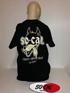 So-Cal-t-shirt-Wolf-BLACK-sz-XXL-rear-print-hot-rod-32-ford-chev