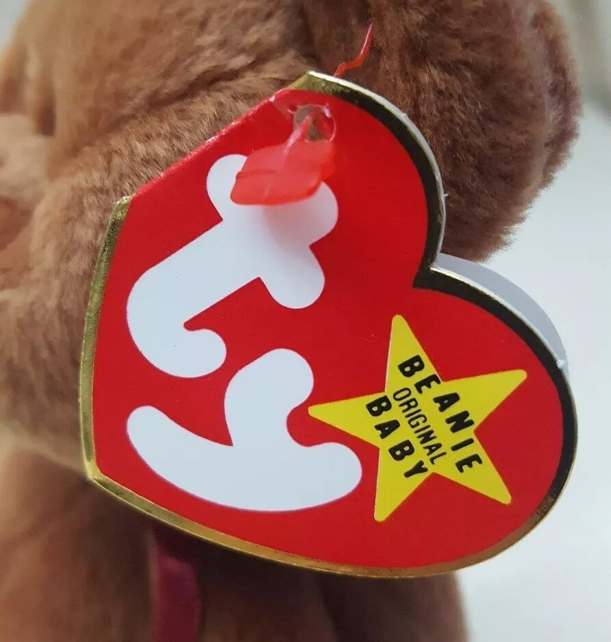 Ty beanie baby teddy - - - 4050 11-28-95 1993 pvc - pellets - fehler e8f0ca