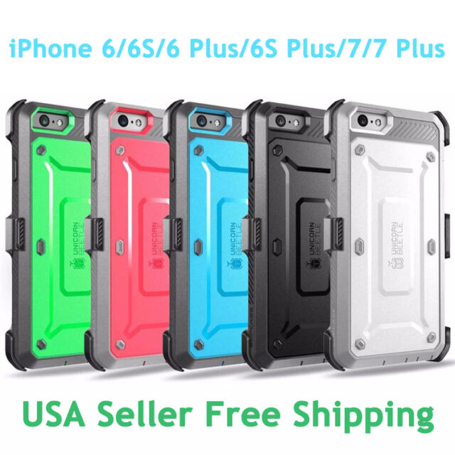 buy popular 2e9c4 ff359 SUPCASE For iPhone 6/6S Plus/7/7 Plus Unicorn Beetle Fully Rugged Holster  Case