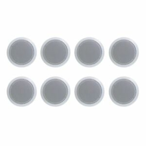 8-New-PYLE-PRO-PDIC61RD-6-5-039-039-200W-Max-2-Way-In-Ceiling-Wall-Speaker-White