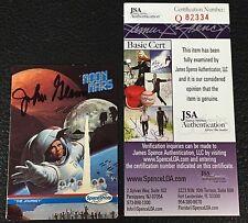 JOHN GLENN 1991 SPACE SHOTS MOON MARS SIGNED AUTOGRAPHED CARD NASA JSA CERTIFIED