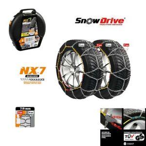 Catene da neve a rombo 9mm Bmw Serie 5 pneumatico 245//45R18 2454518 F10-F11