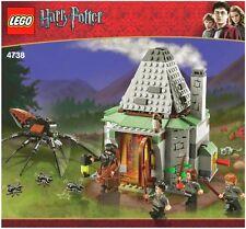 LEGO HARRY POTTER 'HAGRID'S HUT' #4738 4 FIGURES ARAGOG 100% COMPLETE GUARANTEE