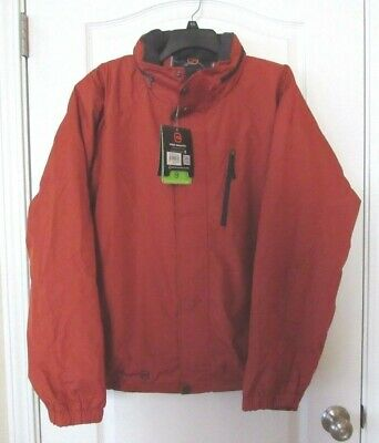 XL-XXL NWT MSRP$80 HAWKE /& CO Zip Front Hooded Wind Rain Jacket Olive Men/'s  Sz