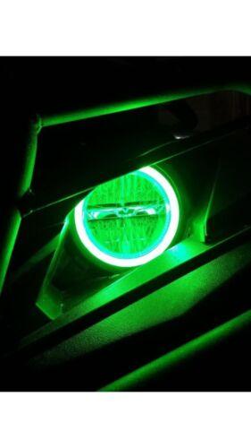 Yamaha YXZ 1000 Led Halos rings lights set 4  2016 2017  GREEN Angel Eye