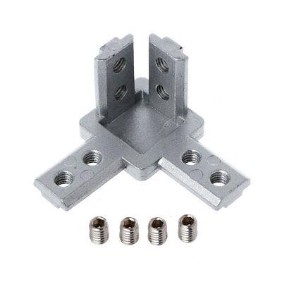 4pcs 2020 3030 4040 T Slot Aluminum Profile 3-way Corner Bracket for 3D printer