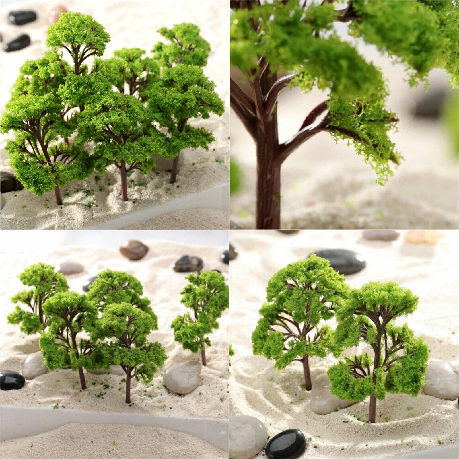 Coconut Palm Trees Model Layout Train Darden Scenery Decor HO OO Scale 15pcs