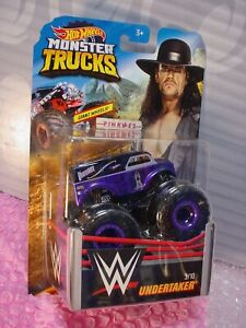 2019-Monster-Vagones-Wwe-Undertaker-3-10-Dairy-Entrega-Negro-Lila-Hot-Wheels