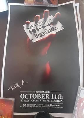Mastodon Oct. 11 Athens Georgia Show Poster Brian Posehn Judas Priest 2 Posters