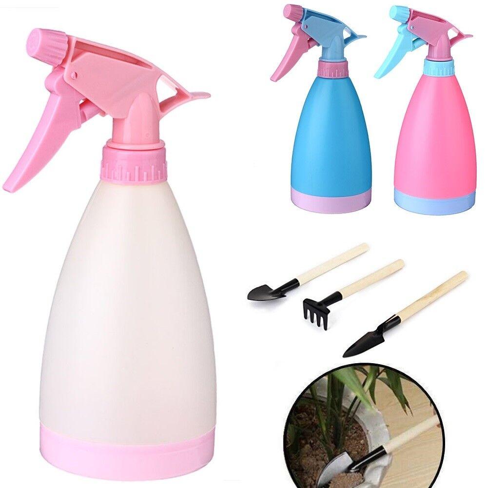 Empty Trigger Water Sprayer Hand Spray Bottle Plants Garden Cleaning Rake