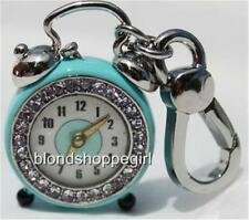 NWT Juicy Couture CRYSTAL RETRO ALARM CLOCK CHARM Rare Crystals Blue Tagged Box