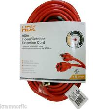 HDX EXTENSION CORD 100' 16/3 COMPUTER PC ELECTRIC POWER CABLE UNIVERSAL PLUG NEW