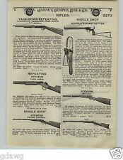 1924 PAPER AD Marble's Game Getter Single Shot .22 .44 Caliber Gun Stevens Scout