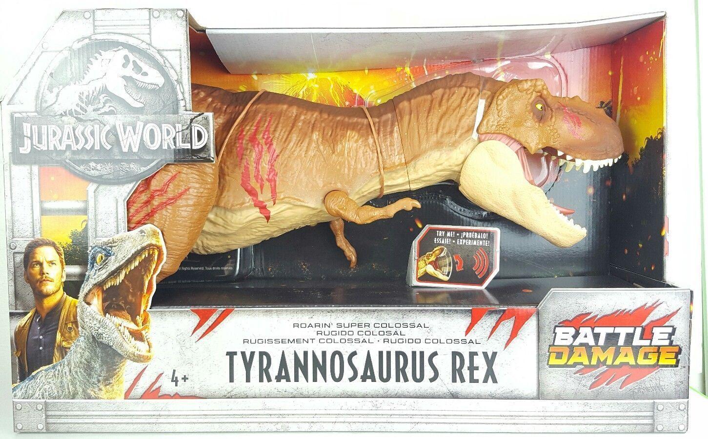 Jurassic World caído Reino súper colosal T Rex daño de batalla