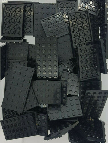 30 x Lego Platten Schwarz Dunkelgrau Blauplatte Grundplatte  4x4 4x10 6x6 4x6