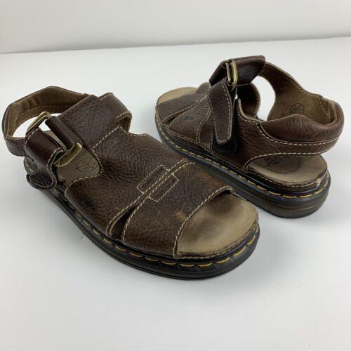 Dr Martens Doc Mens US 11 Brown Leather Sandals Op