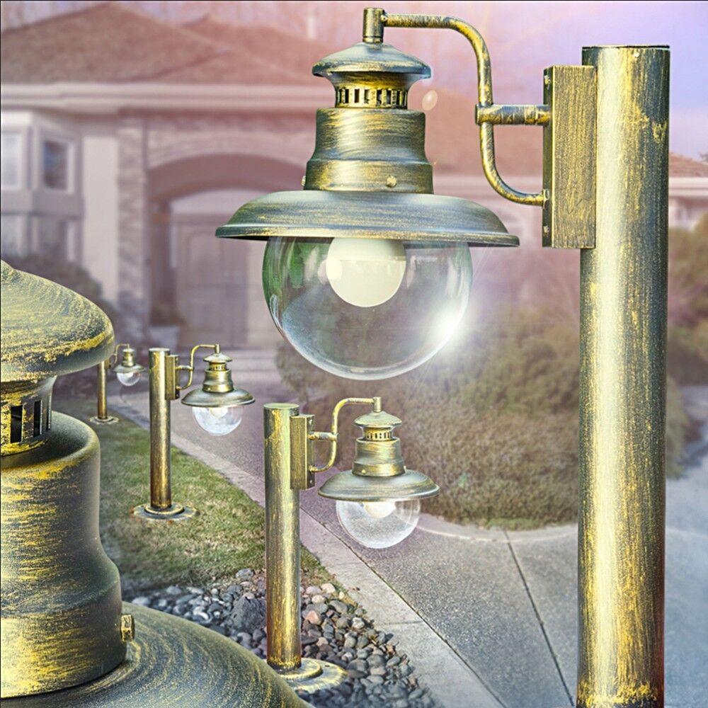 Socket LAMPADA CLASSICA ESTERNO PIANTANA LUCI vie LAMPADE DA GIARDINO NERO oro
