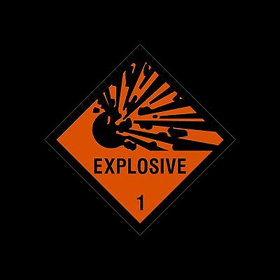100x100mm Sticker Explosive Warning Sign