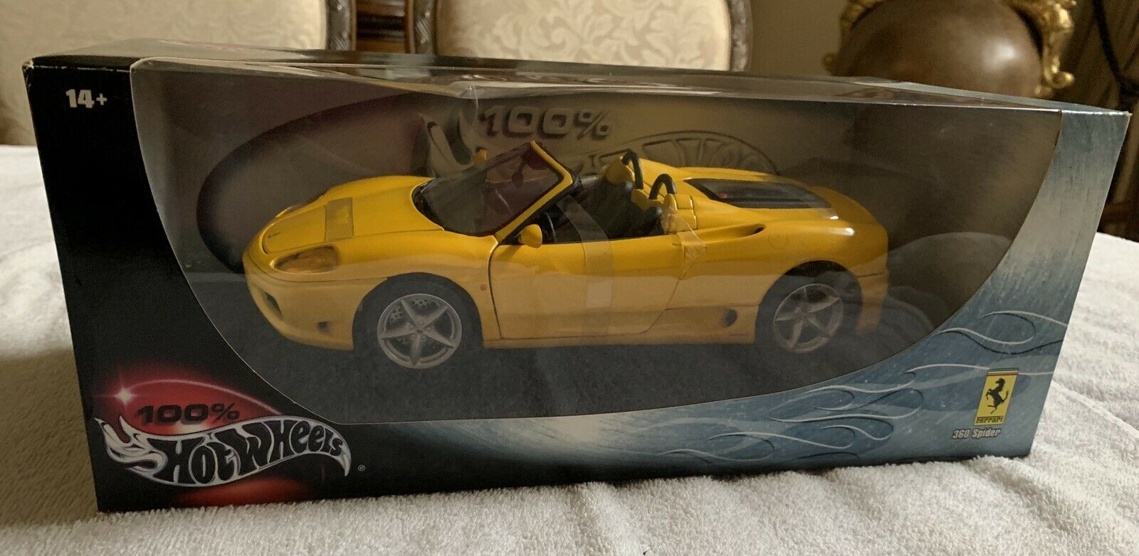 Ferrari 360 Spider Yellow 1 18 Scale Hot Wheels New For Sale Online