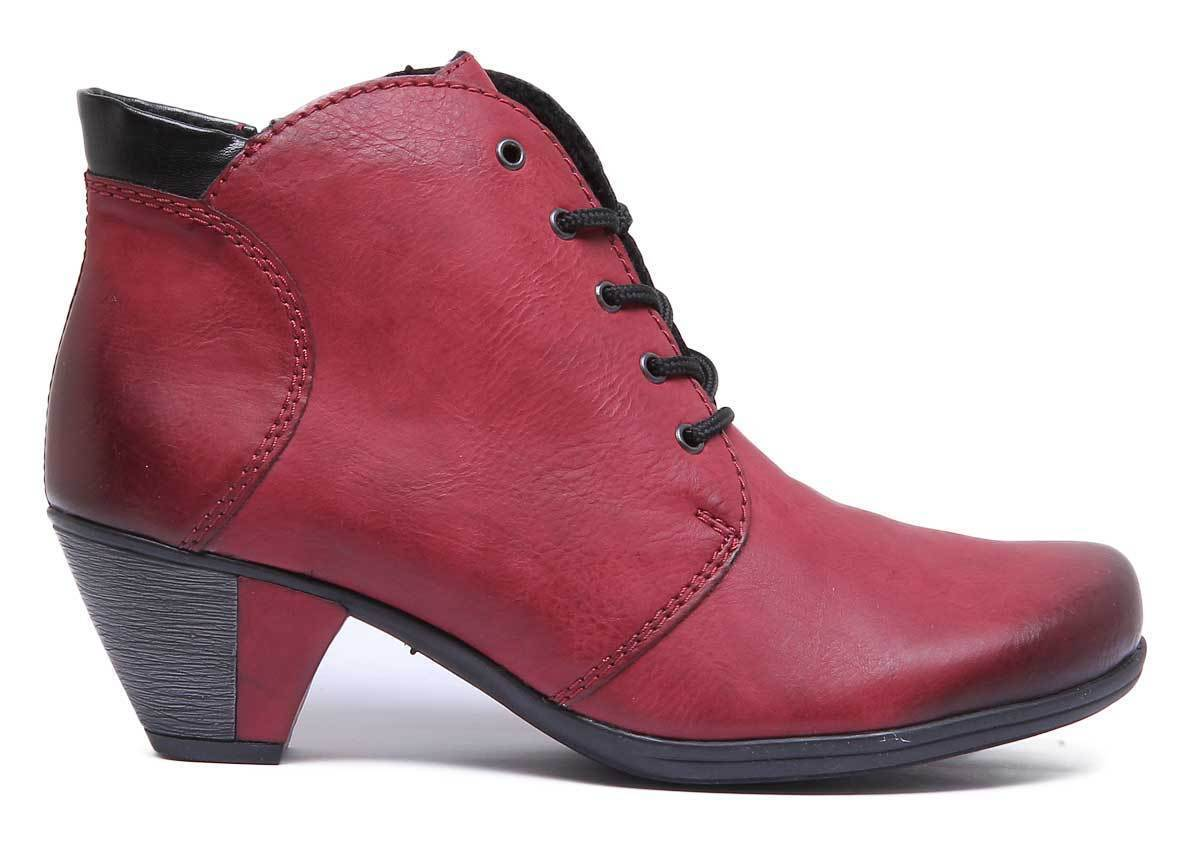 Rieker Y7220 Damenschuhe Wine Leder Matt Ankle Ankle Ankle Stiefel Größe UK 3 - 8 6abd67