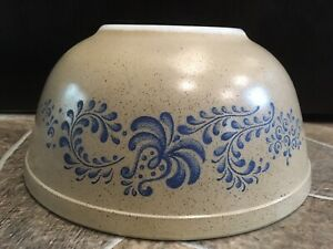 Pyrex HOMESTEAD Mixing Bowl 2.5 L 403 Glass BLUE BEIGE TAN SAND P Middle Nesting