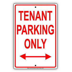 Tenant-Parking-Only-Apartment-Home-Aluminum-Metal-Sign