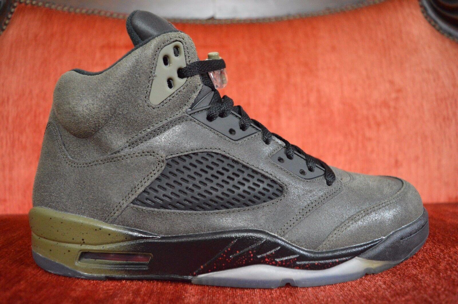 WORN TWICE Nike Retro Air Jordan 5 V Retro Nike Fear 626971-350 Size 10 Olive OG ALL c1190a