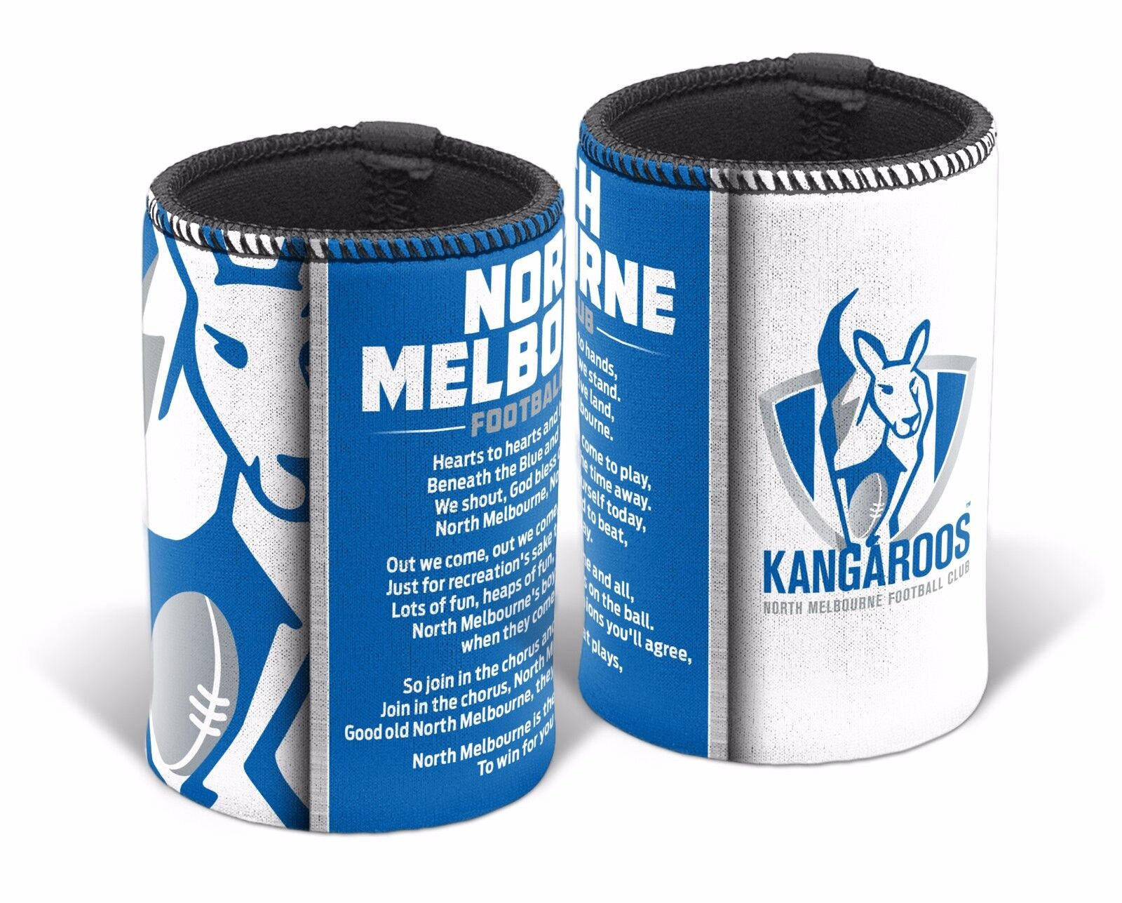 Details about  /Carlton Blues AFL TEAM SONG Beer Can Bottle Cooler Stubby Holder Cosy DAD Gift