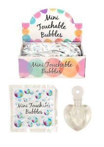 Image Is Loading 48 Mini Touchable Bubbles Wedding Favour Decoration Party