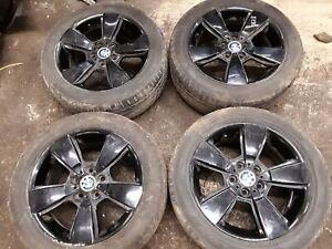 BMW-E83-Alliage-Roue-Set-4X-18x8JxET46-Noir-Pour-X3-Serie-E83-OEM-0545078